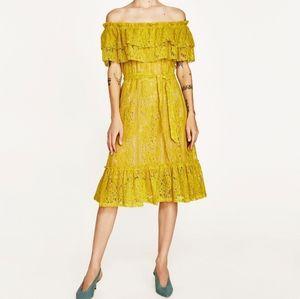 Zara Lace Off Shoulder Dress